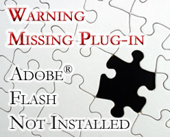 Warning - Missing Plug-in: Adobe® Flash® Not-Installed